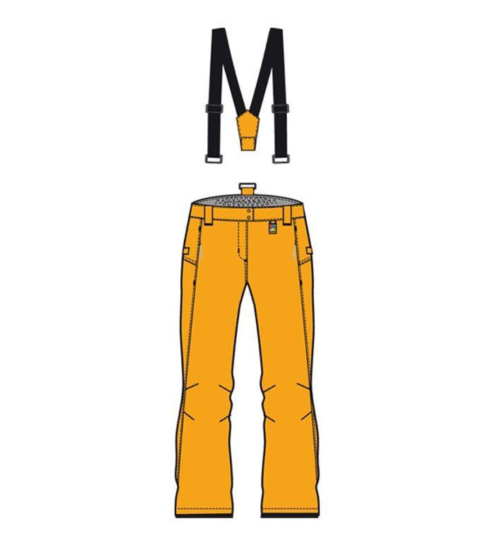 ALPINE PRO MISAWE Dámské lyžařské kalhoty 10144223 Zlatá XXL