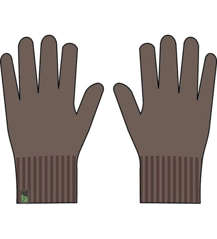 ALPINE PRO Monte Pánské pletené rukavice 45003904 shitake M