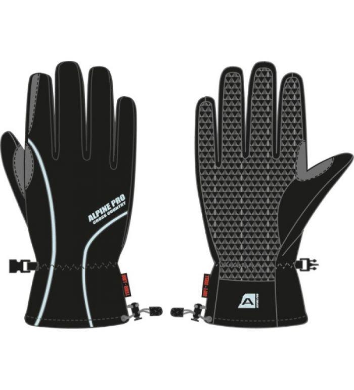 ALPINE PRO Sole Uni softshell rukavice 45005990A černá XL
