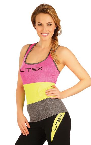 LITEX Tílko dámské. 50003311 reflexně růžová XL