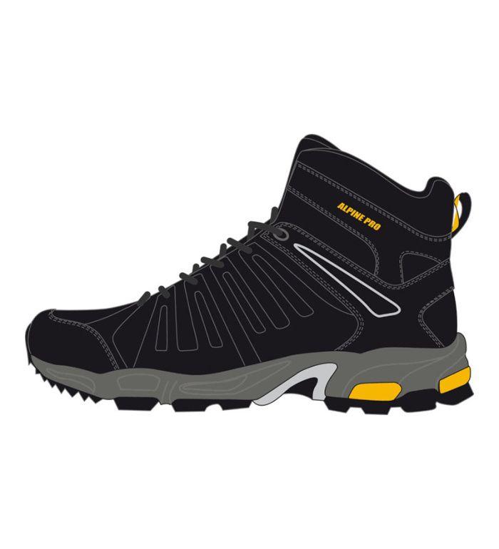 ALPINE PRO DURANGO MID Dětská sportovní obuv 50155990 černá 31