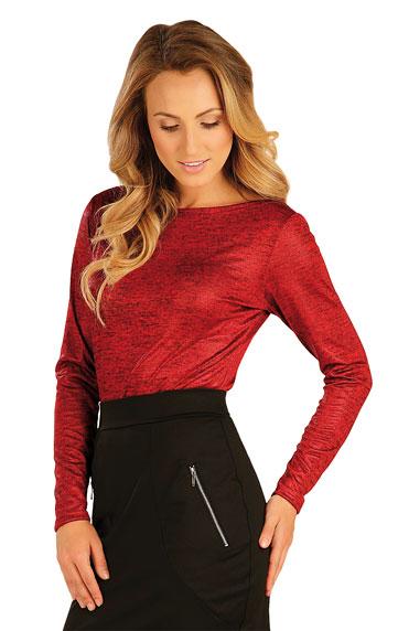 LITEX Triko dámské s dlouhým rukávem. 51042316 tmavě červené melé s leskem XL
