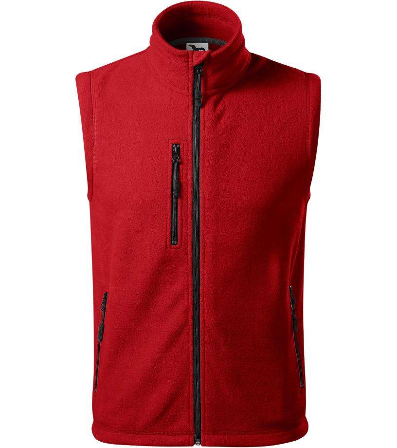 ADLER Exit Uni fleece vesta 52507 červená