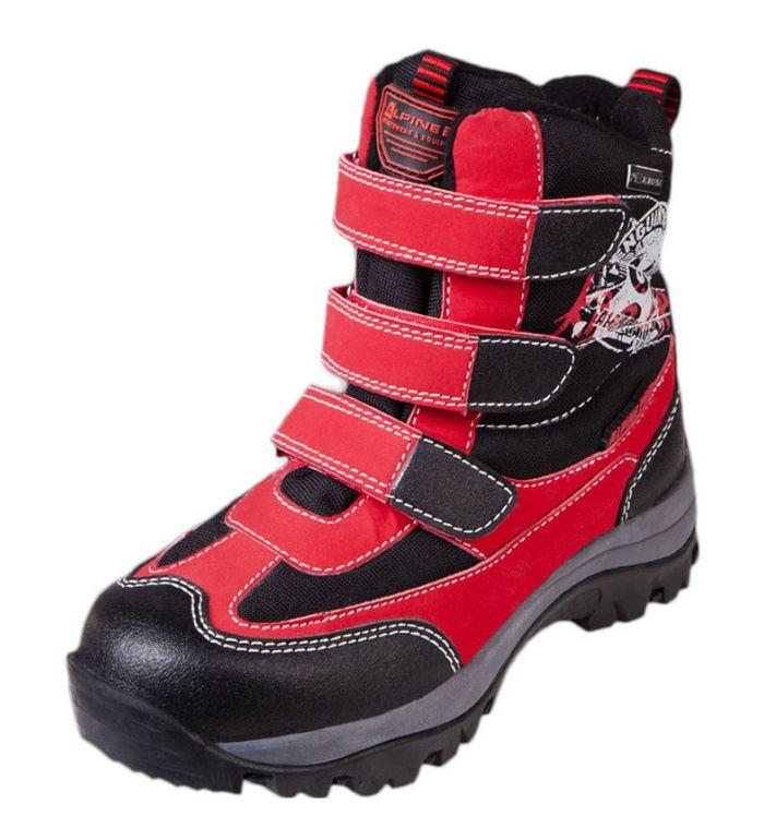 ALPINE PRO Penguis PTX Dětská zimní obuv 5762445 purpurová 35