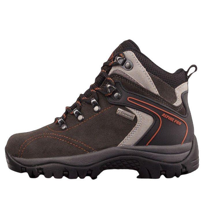 ALPINE PRO SPIDER MID PTX Dětská obuv 5785779 tmavě šedá 29