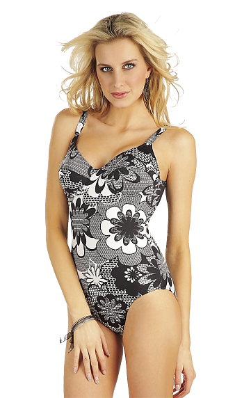 LITEX Jednodílné plavky s kosticemi 69029 42