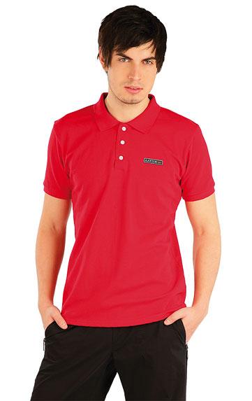 LITEX Polo triko pánské s krátkým rukávem. 87297306 červená L