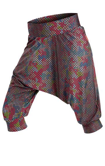 LITEX Kalhoty dámské 3/4 s nízkým sedem. 89060999 tisk S