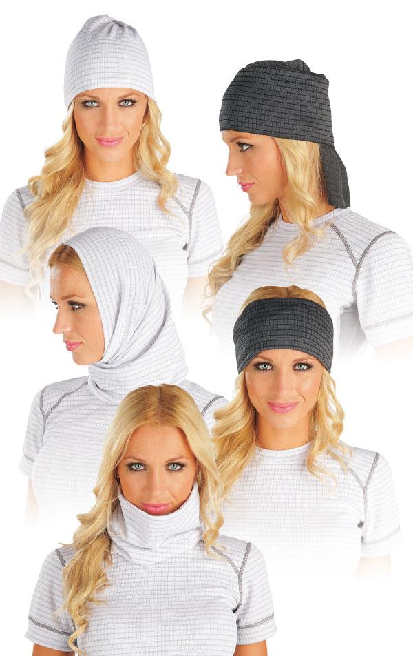 LITEX Multifunkční šátek. 90028100 Bílá UNI