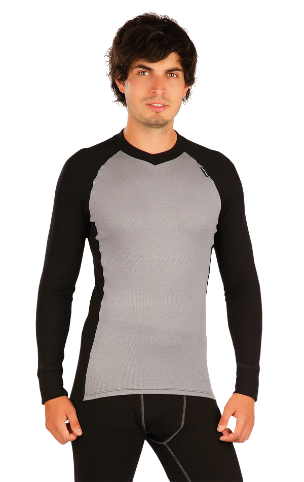 LITEX Termo triko pánské s dlouhým rukávem. 90045111 světle šedá XL