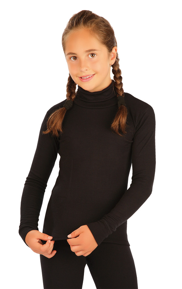LITEX Termo rolák dětský s dlouhým rukávem. 90051901 černá 128