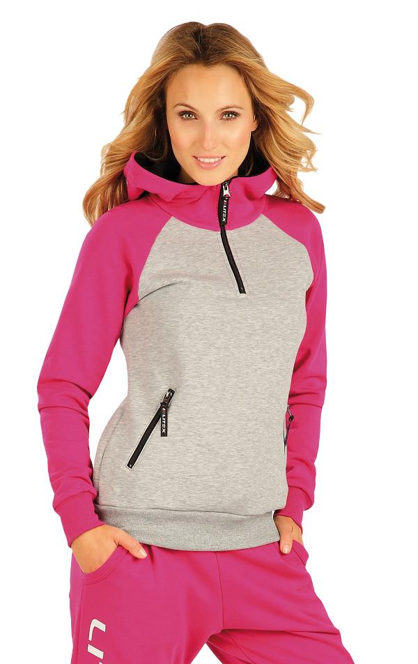 LITEX Mikina dámská s kapucí. 90153303 růžová S