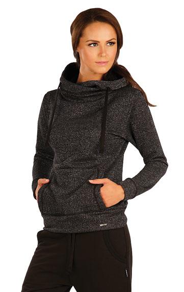 LITEX Mikina dámská s překříženou kapucí. 90171901 černá XL