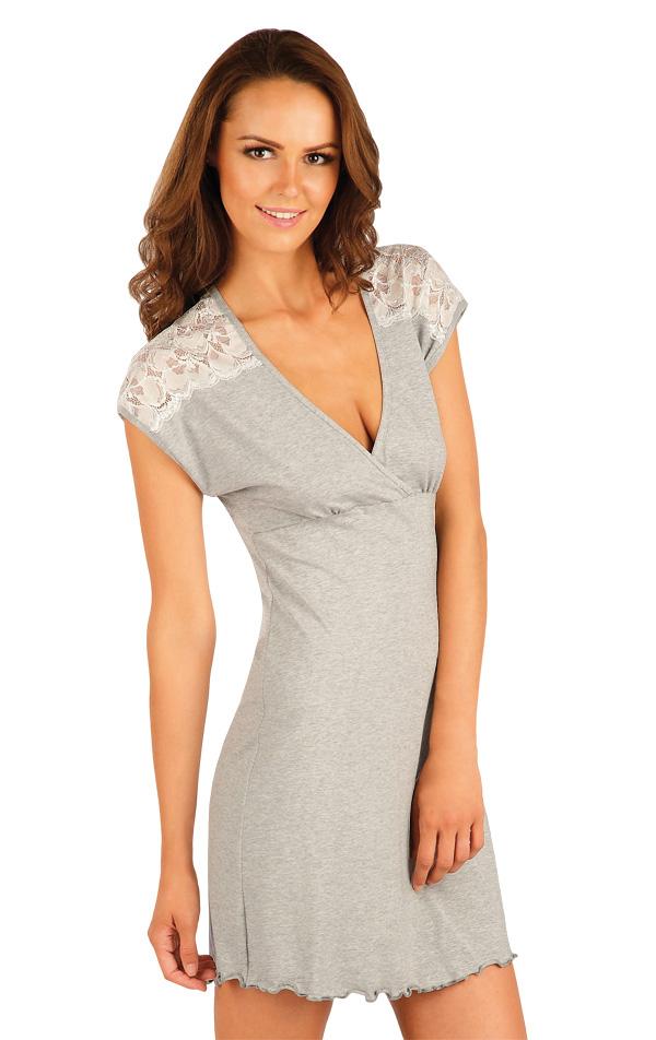 LITEX Dámská noční košile. 90399110 světle šedé melé XL