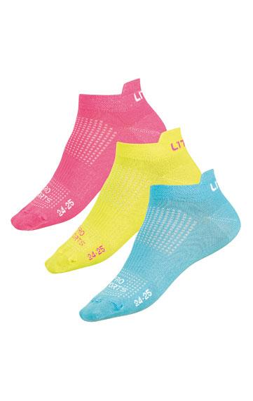 LITEX Ponožky nízké. 99661103 citrónová 24-25
