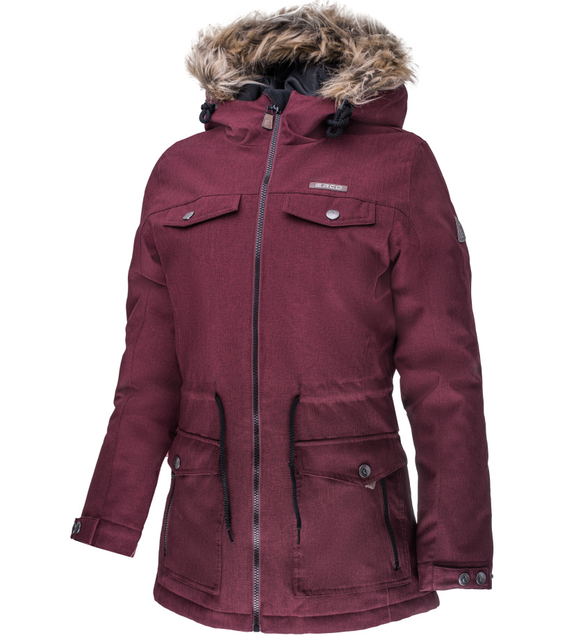 ERCO DARONIA Dámská zimní bunda 17W2035RDW červená melange XXXL