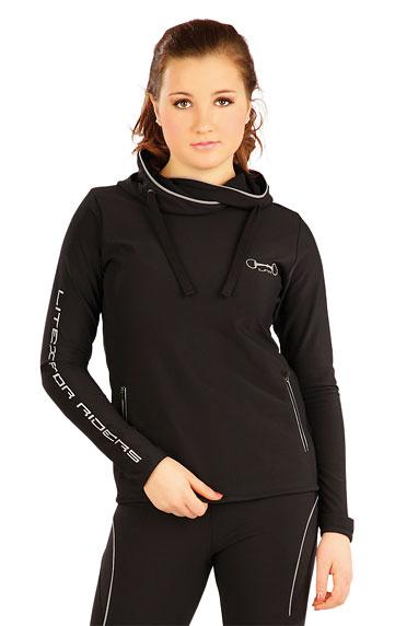 LITEX Mikina dámská s překříženou kapucí. J1082901 černá M 32db96a421