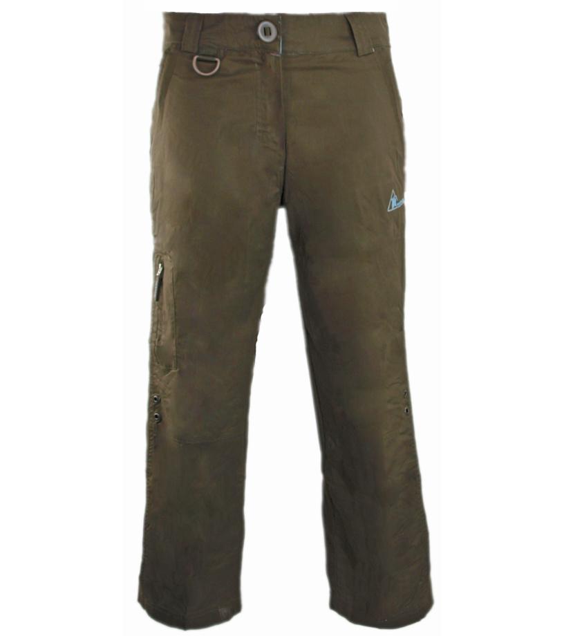 ENVY ANOUK Dámské capri kalhoty KL0064ENBRN Hnědá