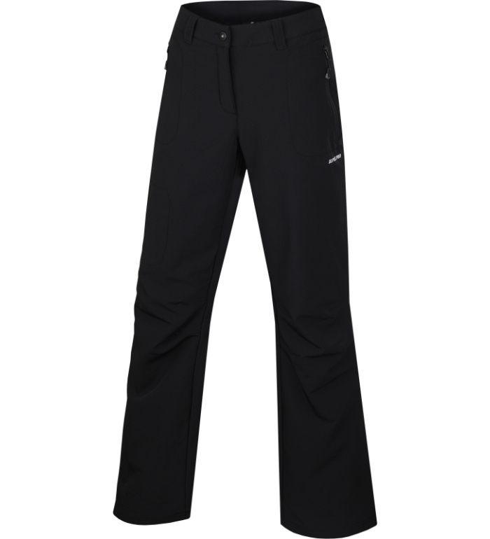 ALPINE PRO MURIA II Dámské softshelové kalhoty LPAB051990 černá 46