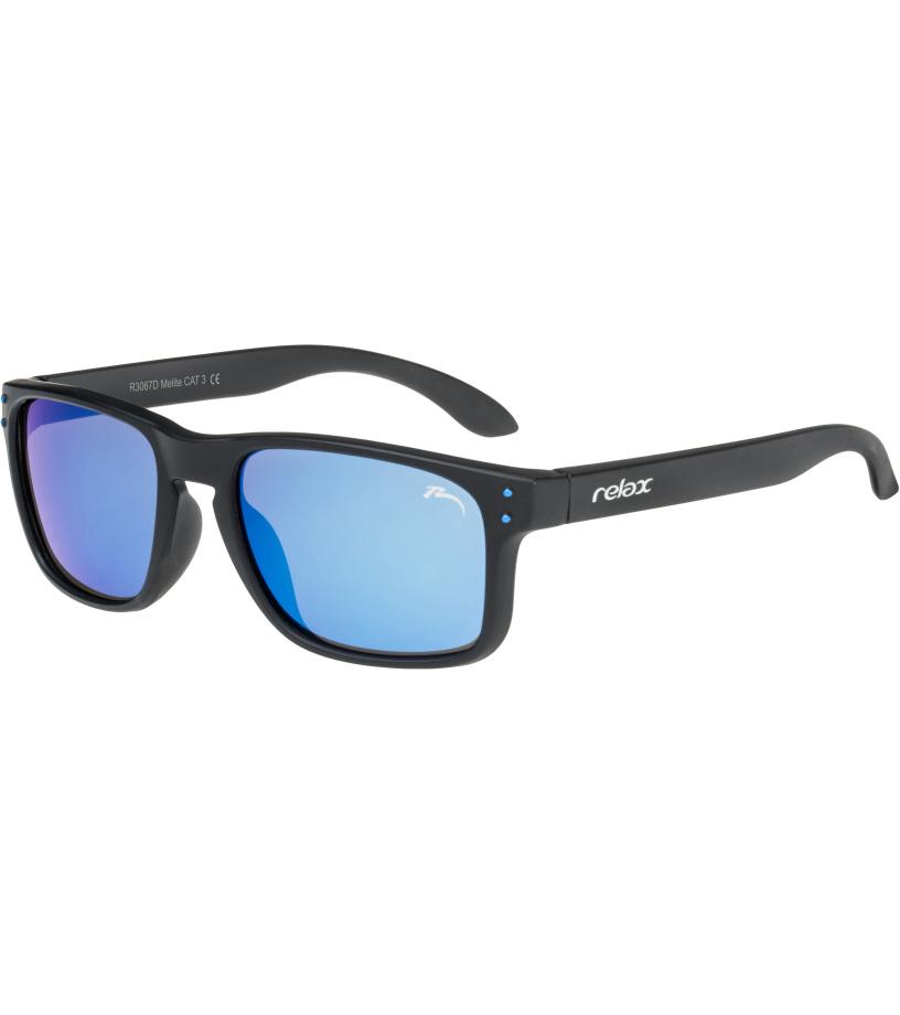 RELAX Melite Dětské sluneční brýle R3067D černá L