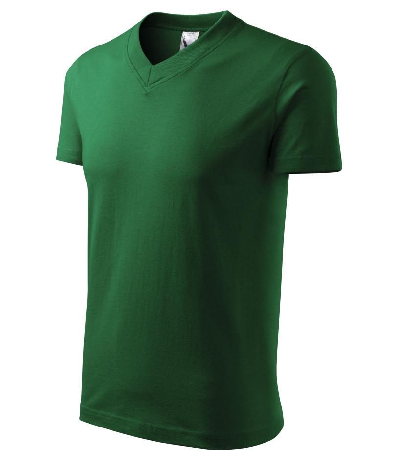 ADLER Heavy V-neck 160 Unisex triko 10206 lahvově zelená