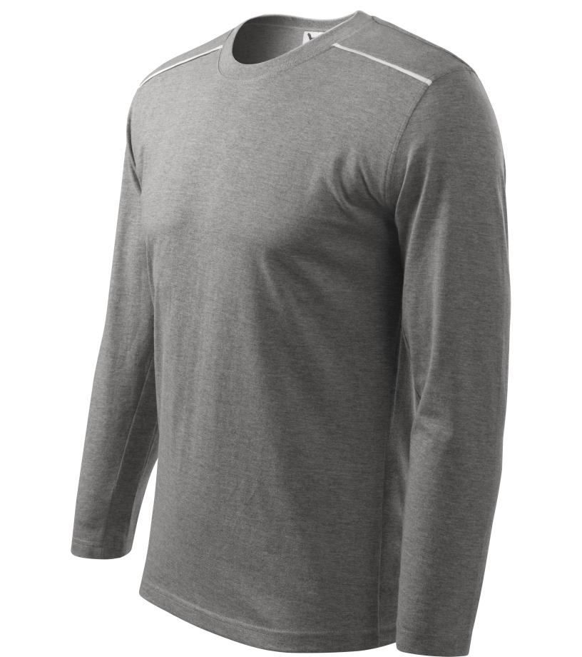 ADLER Long Sleeve Unisex triko 11212 tmavě šedý melír XXXL