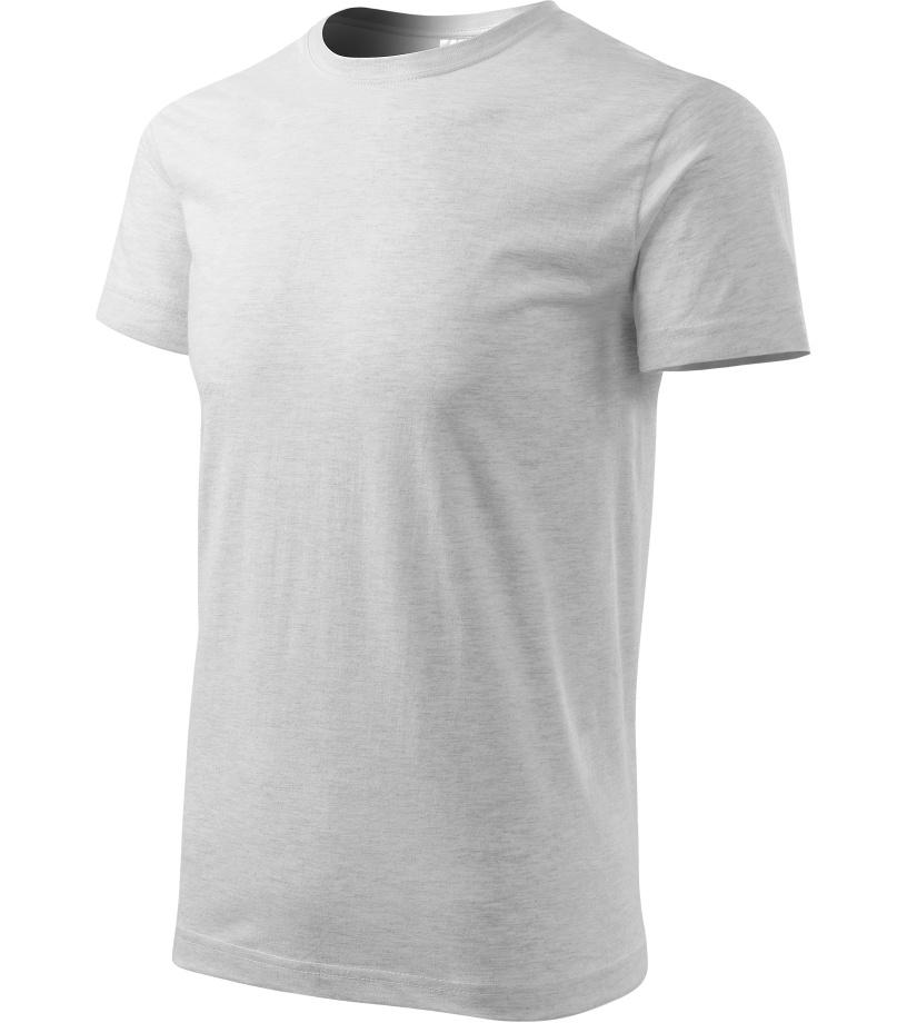 ADLER Basic Unisex triko 12903 světle šedý melír