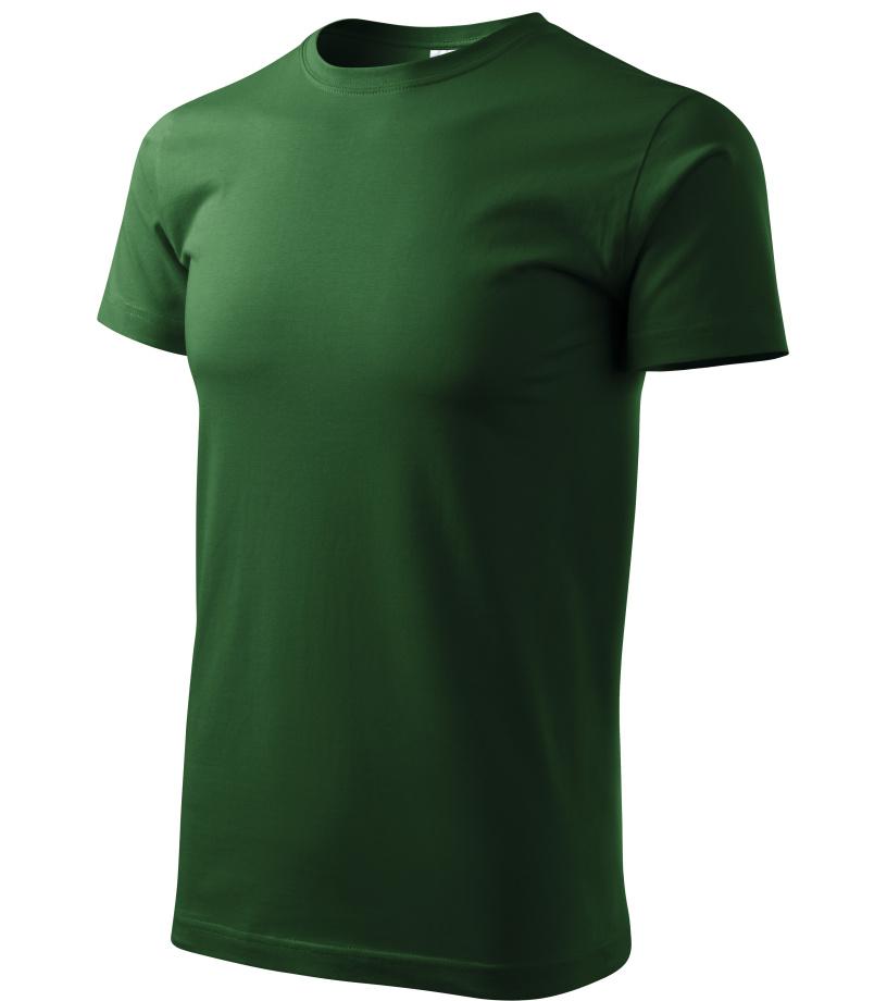 ADLER Basic Unisex triko 12906 lahvově zelená M
