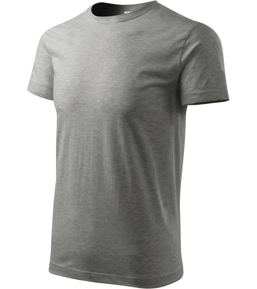 ADLER Basic Unisex triko 12912 tmavě šedý melír