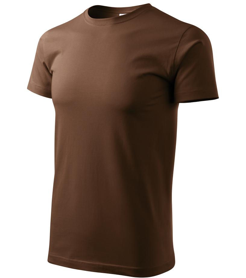 ADLER Basic Unisex triko 12938 čokoládová XXXL