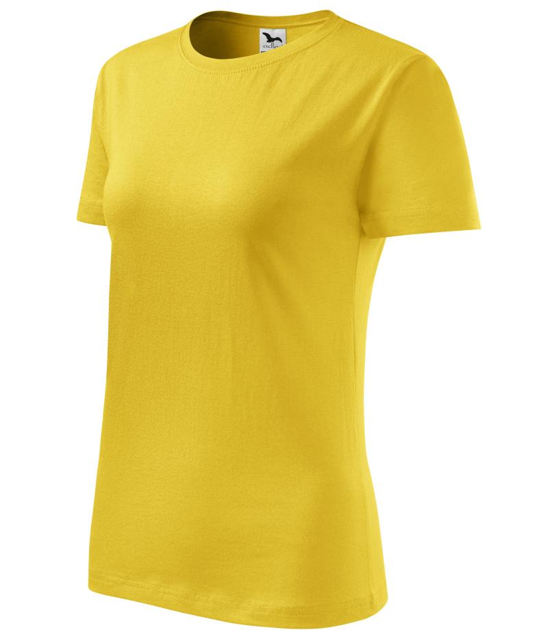 ADLER Classic New Dámské triko 13304 žlutá XL