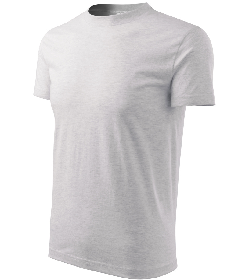 ADLER Basic Dětské triko 13803 světle šedý melír