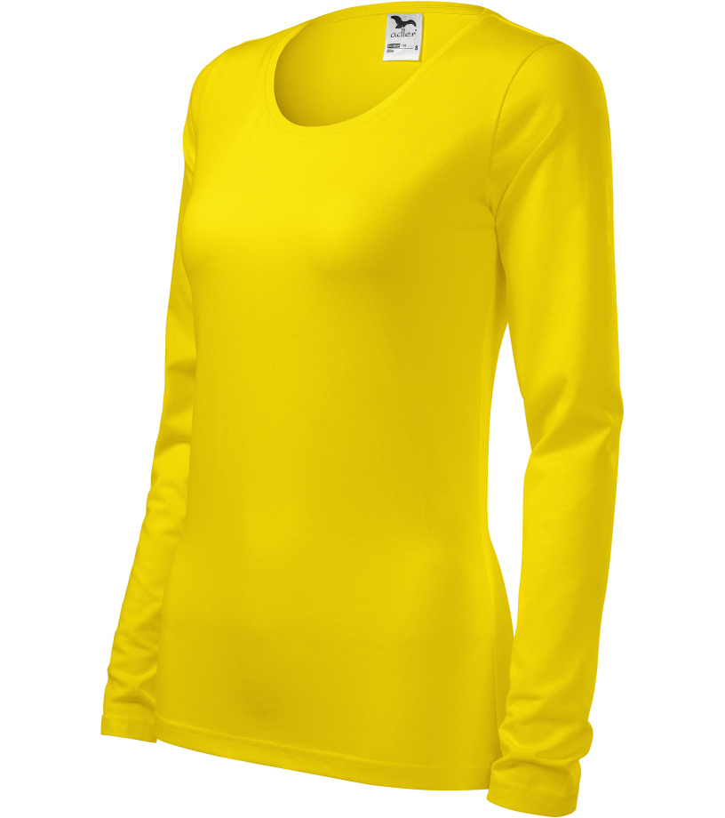 ADLER Slim Dámské triko 13904 žlutá XL