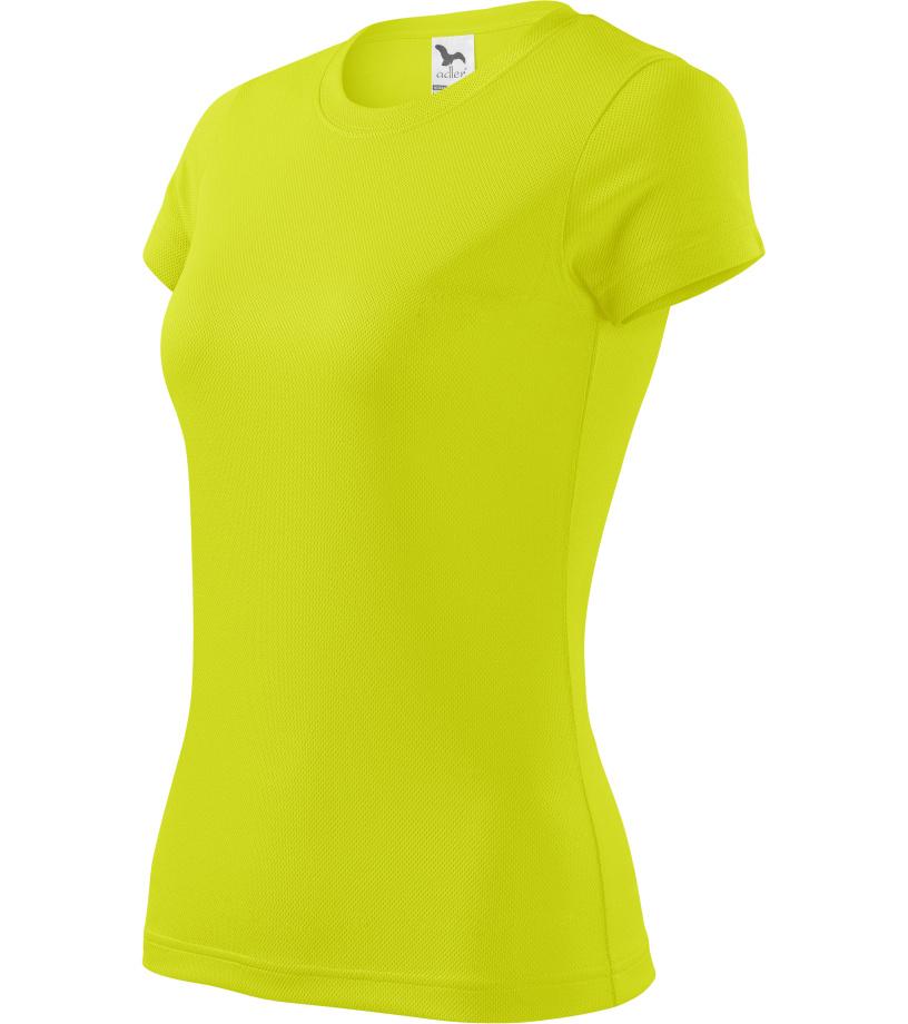 ADLER Fantasy Dámské triko 14090 neon yellow XS