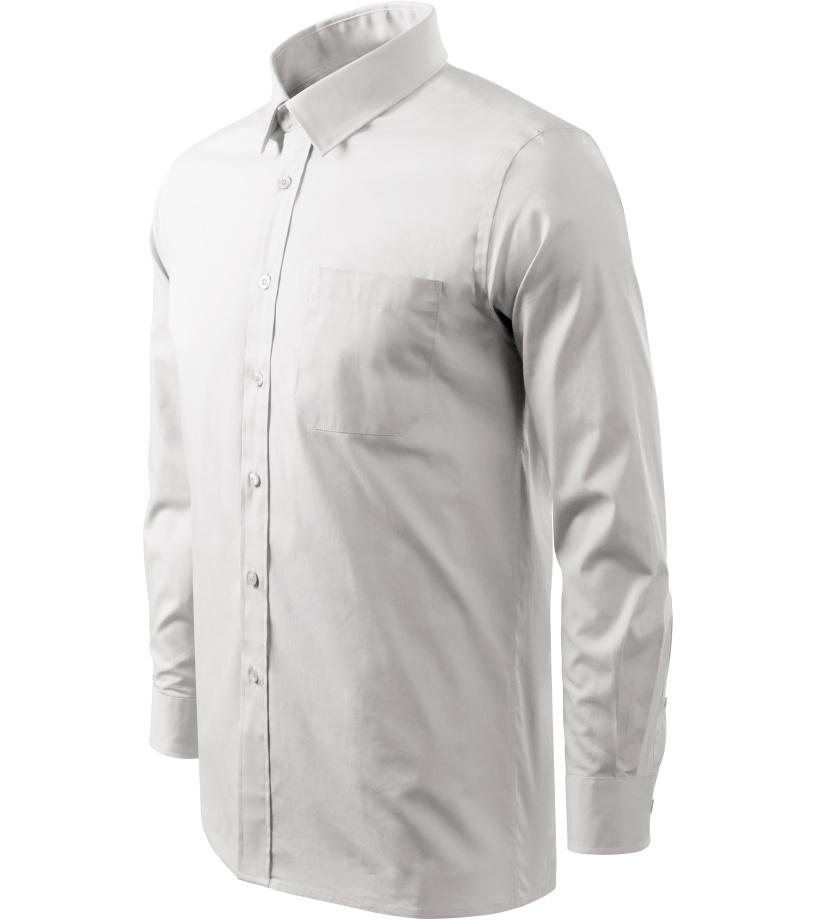 ADLER Shirt long sleeve Pánská košile 20900 bílá XXXL