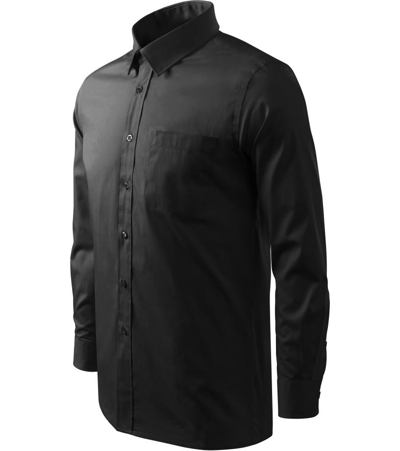 ADLER Shirt long sleeve Pánská košile 20901 černá XXXL