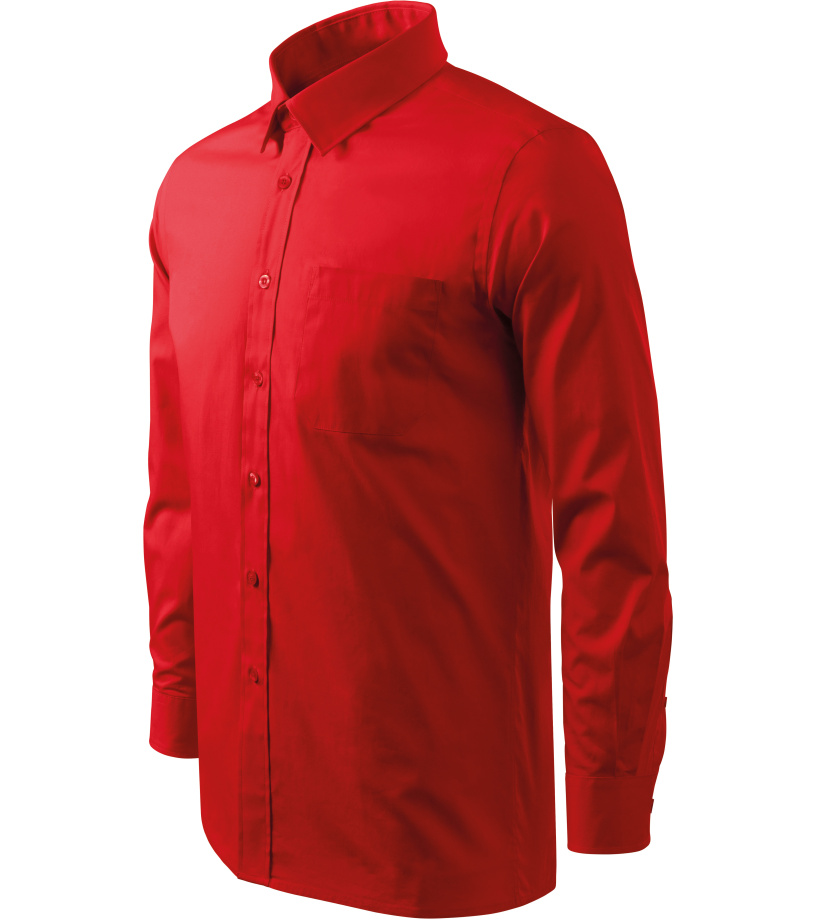 ADLER Shirt long sleeve Pánská košile 20907 červená XXXL