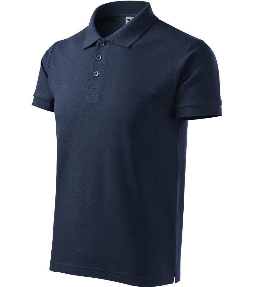 ADLER Cotton Pánská polokošile 21202 námořní modrá