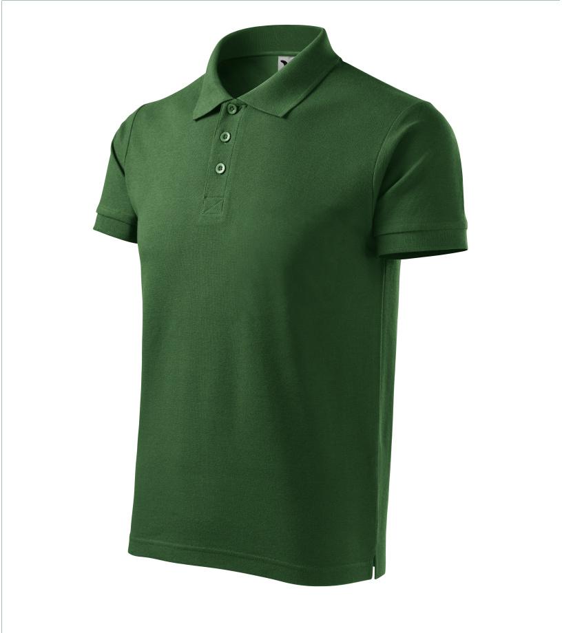 ADLER Cotton Pánská polokošile 21206 lahvově zelená
