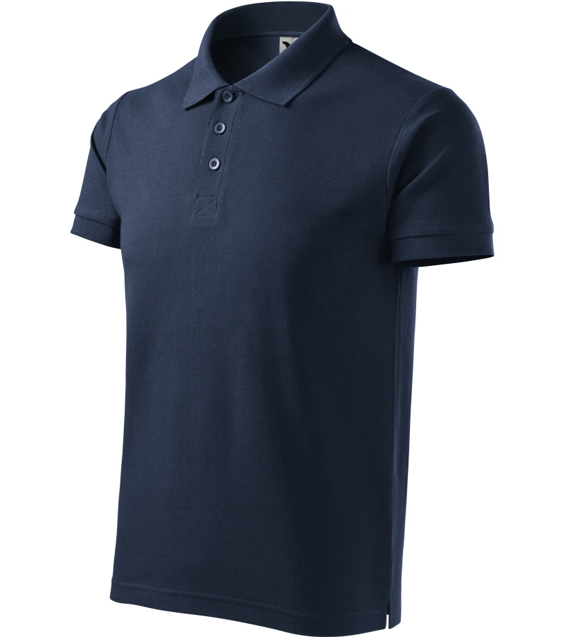 ADLER Cotton Heavy Pánská polokošile 21502 námořní modrá
