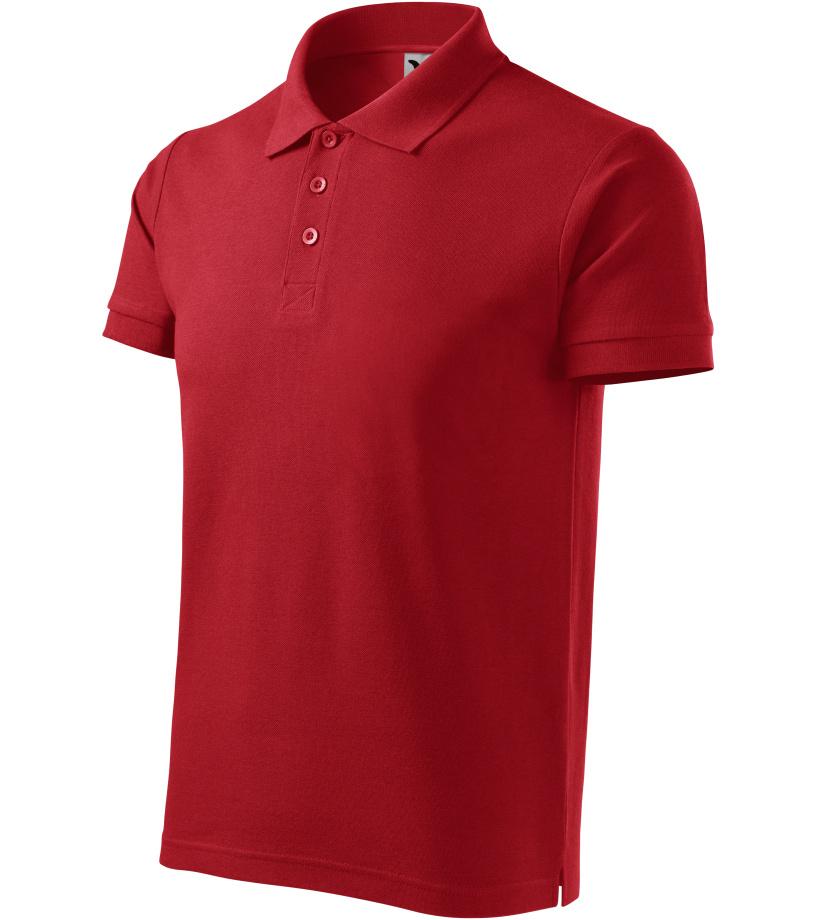ADLER Cotton Heavy Pánská polokošile 21507 červená