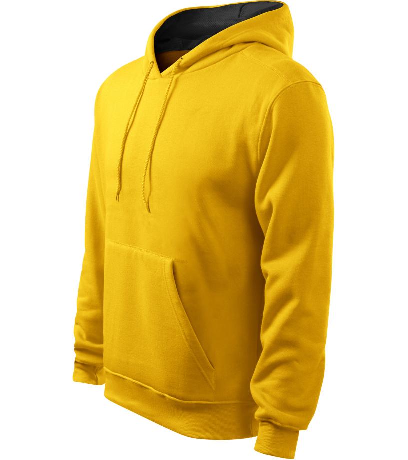 ADLER Hooded Sweater Pánská mikina 40504 žlutá XL