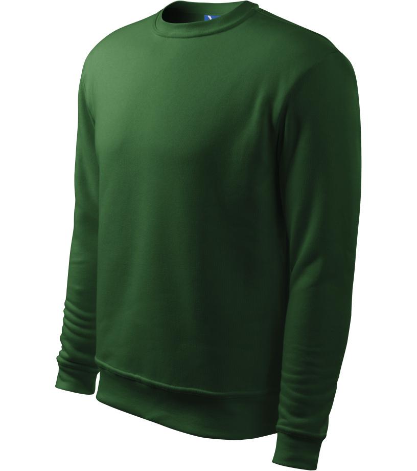 ADLER Essential Pánská mikina 40606 lahvově zelená L