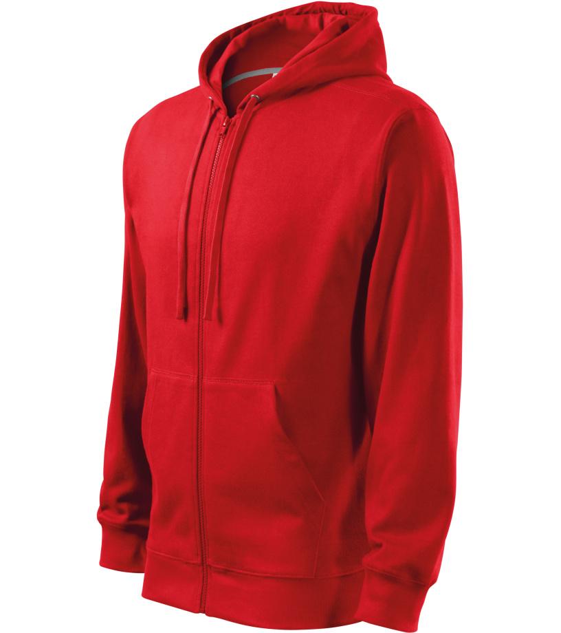 ADLER Trendy Zipper Pánská mikina 41007 červená M