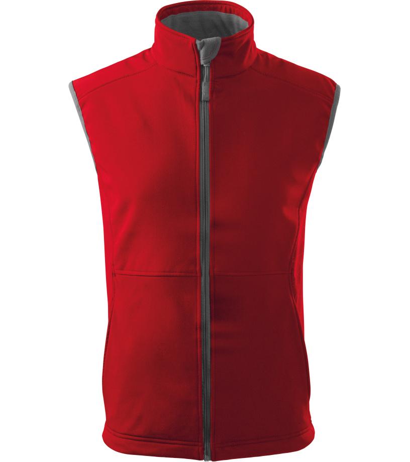 Malfini Vision Pánská softshellová vesta 51707 červená XXXL