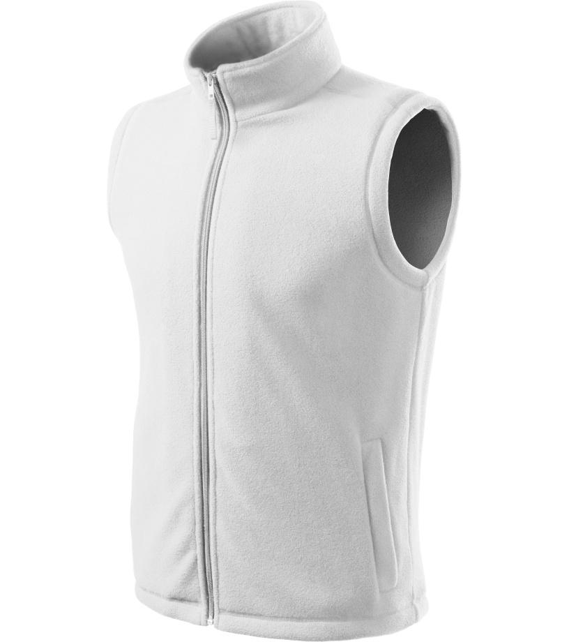 ADLER Next Unisex fleece vesta 51800 bílá