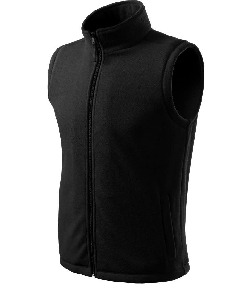 ADLER Next Unisex fleece vesta 51801 černá