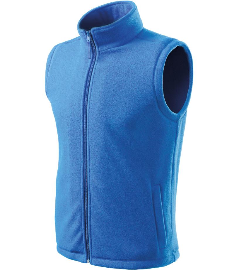 ADLER Next Unisex fleece vesta 51814 azurově modrá S