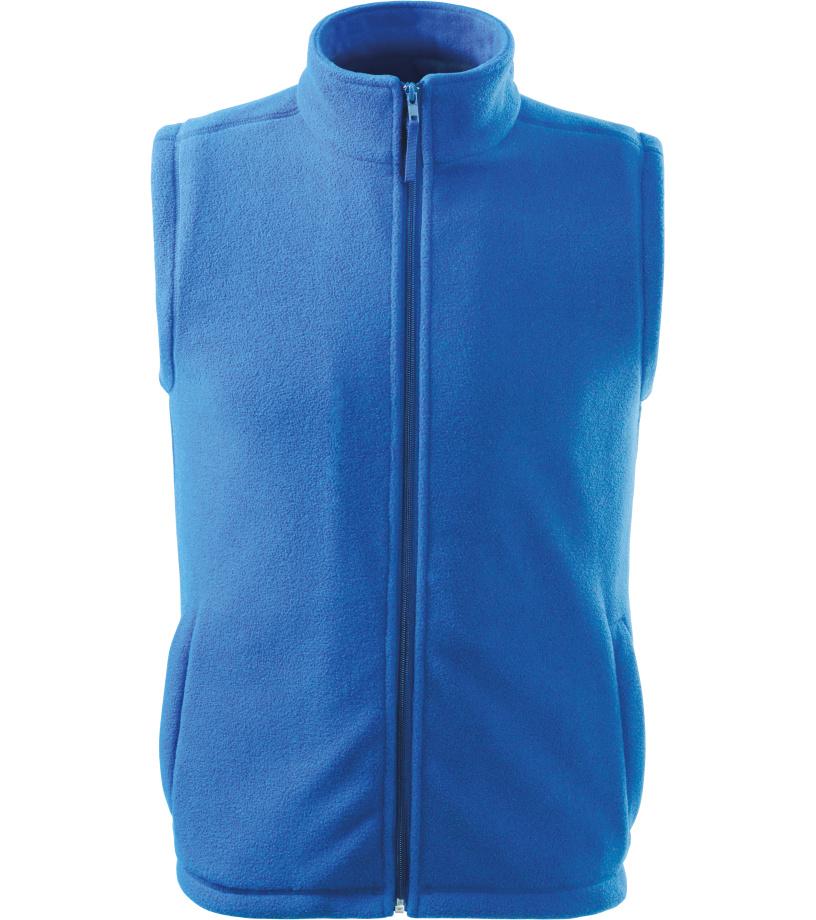 RIMECK Next Unisex fleece vesta 51814 azurově modrá S