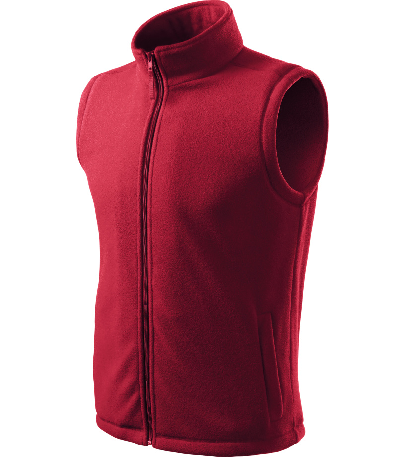 ADLER Next Unisex fleece vesta 51823 marlboro červená S